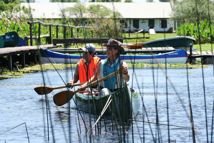 Paseos en canoa por los esteros
