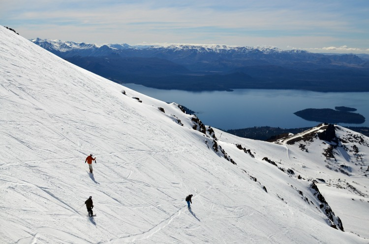 Centro de esquí en la Patagonia.