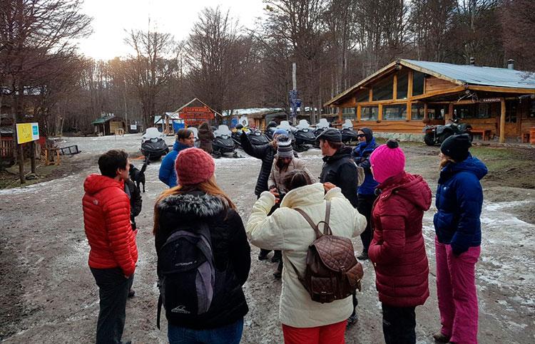 Visitas técnicas de los participantes a distintos lugares de Tierra del Fuego